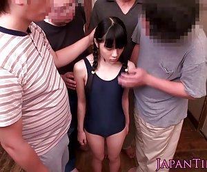 იაპონელი თინეიჯერი ითამაშა, ბევრი დომინირება, ტყაპუნი, დაბმული